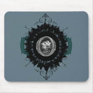 """Wreath """"My Cameo"""" Flowers Floral Mouse Pad"""