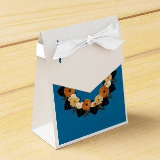 "Wreath ""Orange Blossom"" Orange Flower Favor Box Favour Boxes"