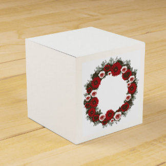 "Wreath ""Pine Cone"" Posterized Flowers Favor Box Party Favour Boxes"