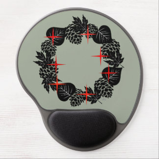 """Wreath """"Red Star"""" Flowers Floral Mouse Pad"""
