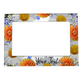 Wreath Wedding Flowers Floral Picture Photo Magnetic Picture Frame