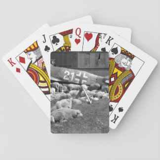 Wrecked plane in Nuremberg_War Image Playing Cards