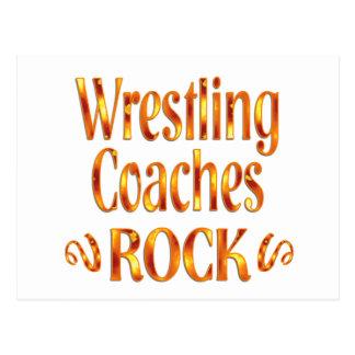 Wrestling Coaches Rock Postcard