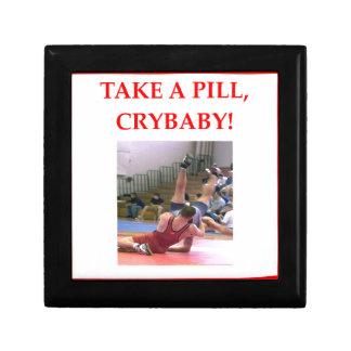 wrestling small square gift box
