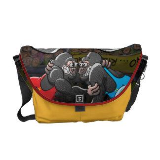 Wrestling Gorillas Messenger Bags