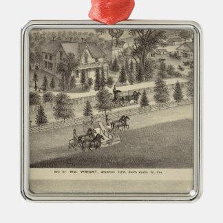 Wright, Putnam residences Christmas Ornament