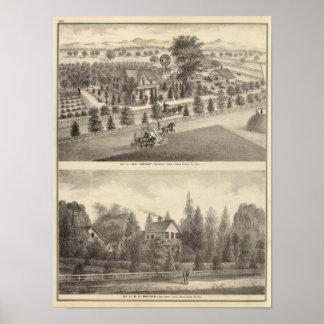 Wright, Putnam residences Poster