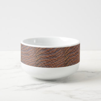 Wrinkly Elephant Skin Texture Template Soup Bowl With Handle