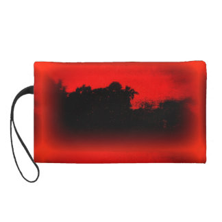 Wristlet with Abstract Evening Sky