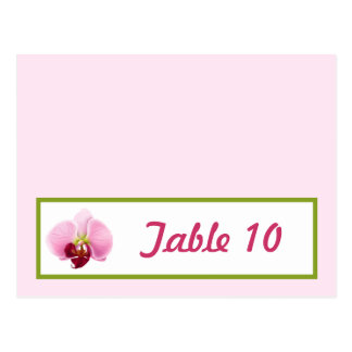 Writable Place Card Pink Orchid Long Stem Flower G Postcard