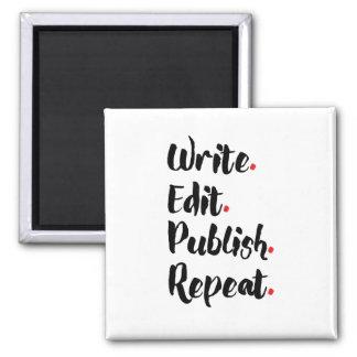 Write. Edit. Publish. Repeat. Magnet