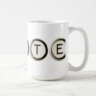 Write Typewriter Keys Mug