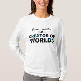 Writer aka creator of worlds (womens) T-Shirt