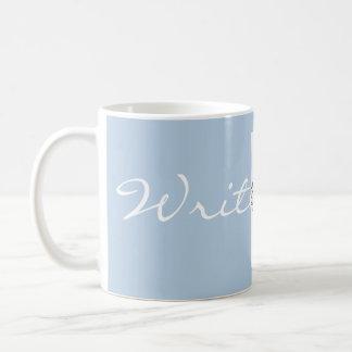 Writer Mug with Blue Background and Typewriter