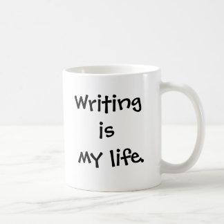 Writer Mug - Writing Is My Life - Funny saying