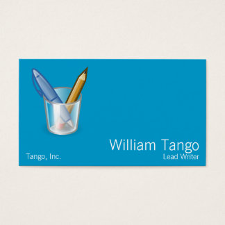 Writer Pen Pencil Cup Business Card