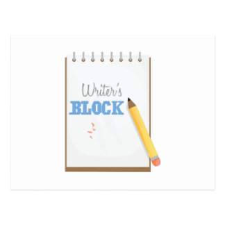 Writer's Block Postcard