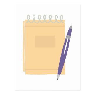 Writers Note Pad Postcard