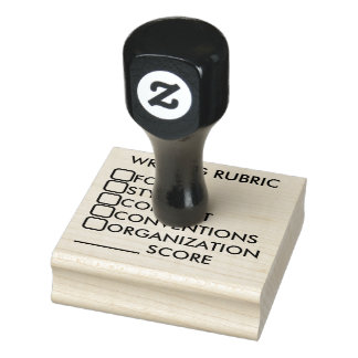 Writing Rubric Rubber Stamp