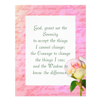 Written with Rose Serenity Prayer Flyer Design