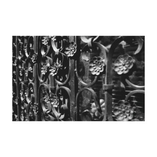 Wrought Iron Flower Screen Detail Canvas Prints