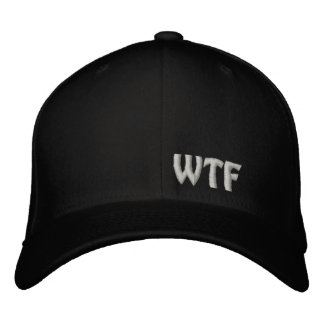 WTF Embroidered Baseball Hat Flexfit Wool Cap Embroidered Cap