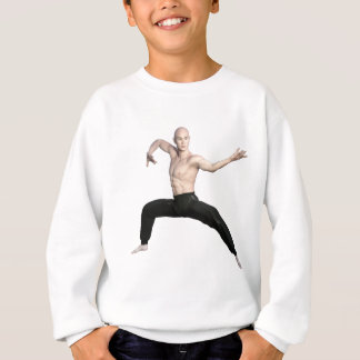 Wu Shu Squat Form Looking Left Sweatshirt