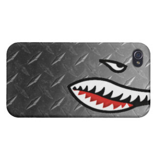 WW2 bomber shark teeth world war plane jet sea coo Cases For iPhone 4