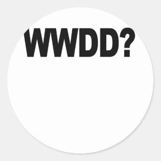 WWDD .png Classic Round Sticker