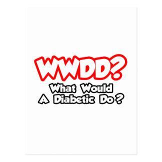 WWDD...What Would a Diabetic Do? Postcard