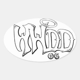 WWDD- Wu-style tribute for Drew-OG Oval Sticker