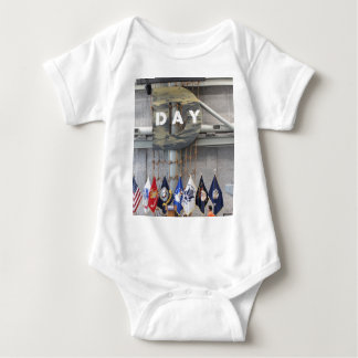 WWII D-Day Sign Baby Bodysuit