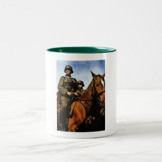 WWII German Cavalry Two-Tone Coffee Mug
