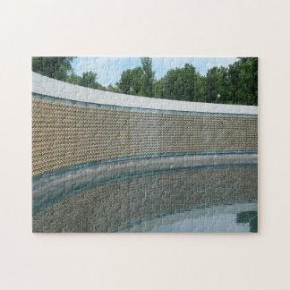 WWII Memorial Freedom Wall in Washington DC Jigsaw Puzzle