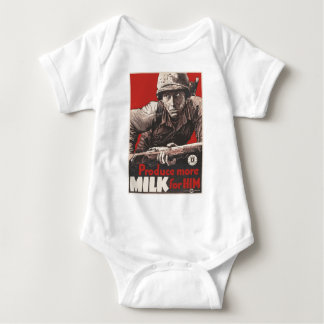WWII - Produce More Milk for HIm Baby Bodysuit