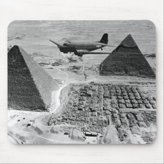 WWII Transport Planes Flying Over Pyramids Mouse Pad