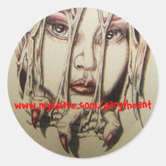 www.myspace.com/garytheant classic round sticker