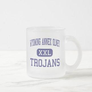 Wyoming Annex Olney - Trojans - Philadelphia Frosted Glass Coffee Mug
