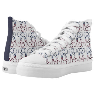 Wyoming bison state flag high tops
