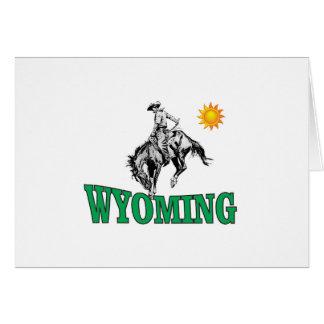 Wyoming cowboy card