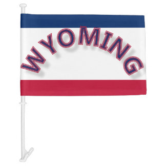 Wyoming Flag Car Flag