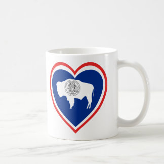 Wyoming Flag Heart Coffee Mug