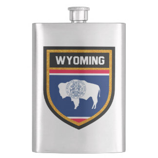Wyoming Flag Hip Flask