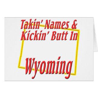 Wyoming - Kickin' Butt Card