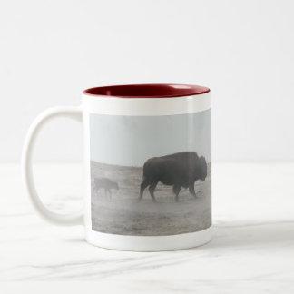 Wyoming Mug-Buffalo Two-Tone Coffee Mug
