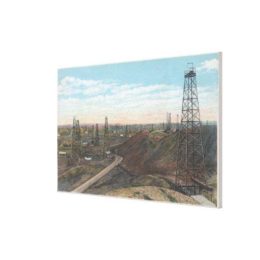 Wyoming Salt Creek Old Fields SceneWyoming Gallery Wrap Canvas