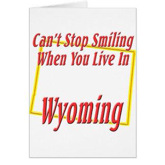 Wyoming - Smiling Card