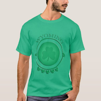 Wyoming St. Patrick's Shamrock Green T-shirt