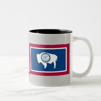 Wyoming State Flag Two-Tone Coffee Mug