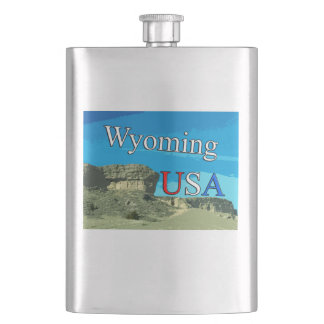 Wyoming USA Flask